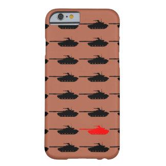 Caso de Iphone 6 de la guerra del tanque Funda Barely There iPhone 6