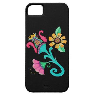 Caso de Iphone del bordado de flores del vintage iPhone 5 Case-Mate Cobertura