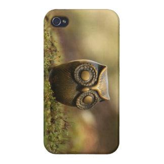 Caso de Iphone del búho del vintage iPhone 4/4S Fundas