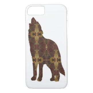 Caso de IPhone del lobo de Brown Funda Para iPhone 8/7
