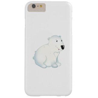 "Caso de Iphone del oso polar del ""pequeño del bebé Funda Barely There iPhone 6 Plus"