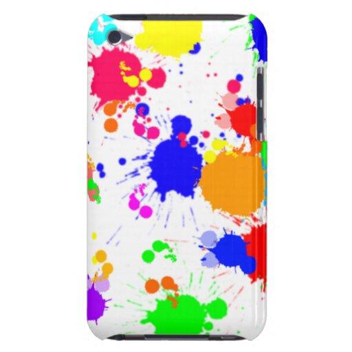 Caso de Kersplatter de la pintura de la salpicadur iPod Case-Mate Fundas