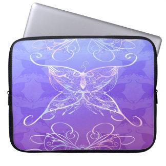 Caso de la electrónica de la cinta de la mariposa funda para portátil