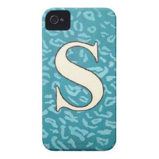 "Caso de la inicial de ""S"" iPhone 4 Case-Mate Carcasa"
