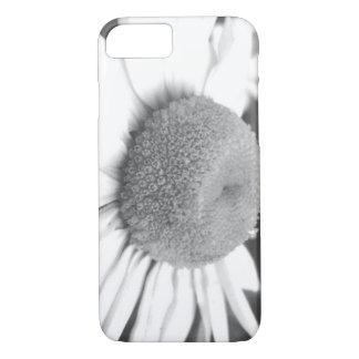 Caso de la margarita negra y blanca funda iPhone 7