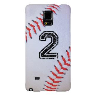 Caso de la nota 4 con el jersey de béisbol #2 funda galaxy note 4