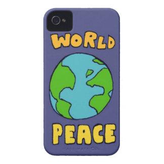 Caso de la paz de mundo Case-Mate iPhone 4 protectores