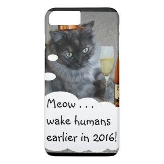Caso de la resolución del Año Nuevo (gato) por Funda iPhone 7 Plus