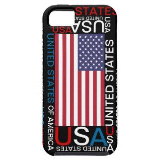 Caso de los Estados Unidos de América los E.E.U.U. iPhone 5 Case-Mate Cobertura