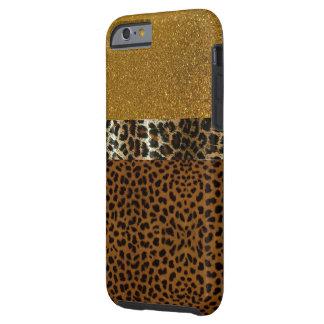 Caso de lujo de IPhone 6 del leopardo Funda Resistente iPhone 6