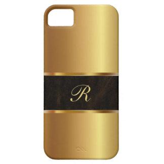 Caso de lujo del iPhone 5 de la mirada del oro iPhone 5 Fundas