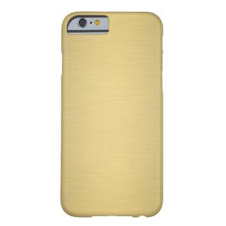 Caso de lujo metálico del iPhone 6 del oro Funda Barely There iPhone 6
