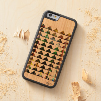 "caso de madera 6/6S ""Tri Bosque"" Heevs™ del iPhone Funda De iPhone 6 Bumper Cerezo"