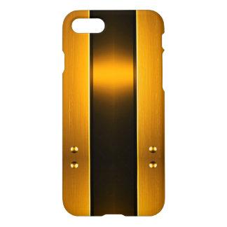 Caso de madera de cobre ligero de la célula funda para iPhone 7
