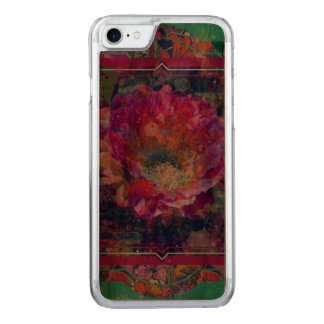 Caso de madera del iPhone de la flor de Arizona, Funda Para iPhone 7 De Carved