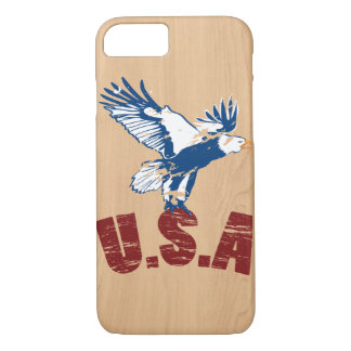 Caso de madera del iphone de los E.E.U.U. Eagle Funda iPhone 7