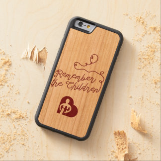 Caso de madera del iPhone de los globos Funda Protectora De Cerezo Para iPhone 6 De Carved