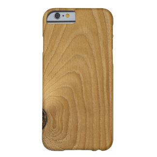caso de madera del iPhone Funda Para iPhone 6 Barely There