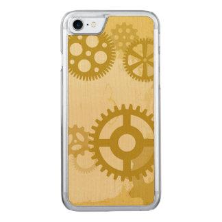Caso de madera del smartphone de Steampunk Funda Para iPhone 8/7 De Carved