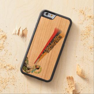 Caso de madera inmediato ecológico funda de iPhone 6 bumper cerezo