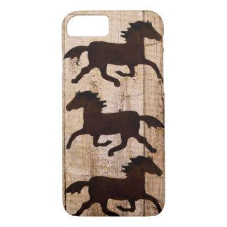 Caso de madera rústico del iPhone 7 del vaquero de Funda iPhone 7
