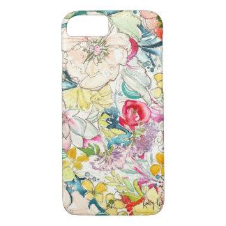Caso de neón del iPhone 7 de la flor de la Funda iPhone 7