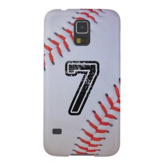 Caso de Samsung S5 del béisbol con #7 Carcasa Galaxy S5