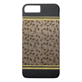 Caso de Shell delgado del iPhone 7 negros del oro Funda iPhone 7 Plus