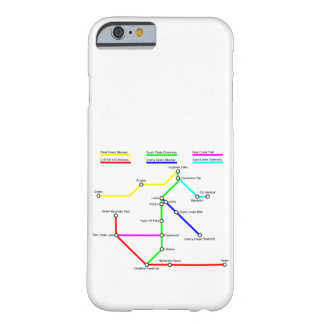 Caso de Smartphone del mapa de la bici de Denver Funda Barely There iPhone 6