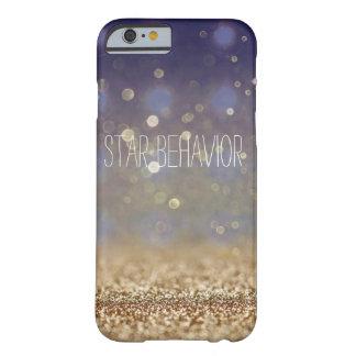 Caso de Stardust Iphone del oro Funda Barely There iPhone 6