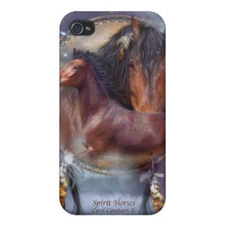 Caso del arte de los caballos del alcohol para el iPhone 4 protector