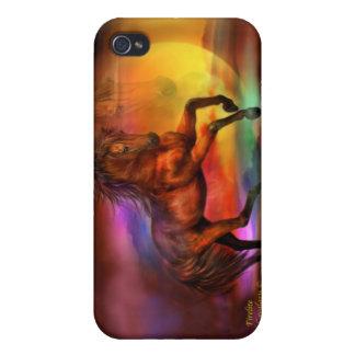 Caso del arte del caballo de la Firelite-Fantasía  iPhone 4 Cárcasas