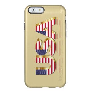 Caso del brillo de la pluma del iPhone 6 del oro Funda Para iPhone 6 Plus Incipio Feather Shine