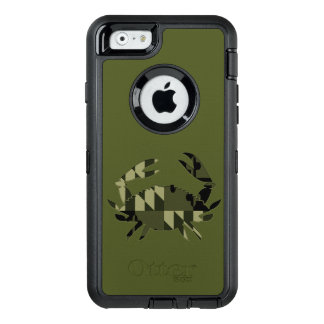 Caso del cangrejo del MD Camo Funda OtterBox Defender Para iPhone 6