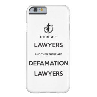 Caso del dispositivo de los abogados de la funda para iPhone 6 barely there