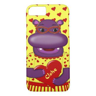 Caso del Hipopótamo-iPhone 7 de Henrietta Funda iPhone 7