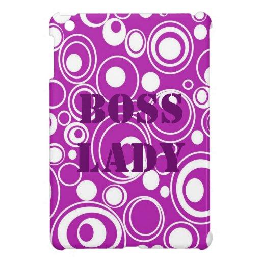 Caso del iPad de señora Purple Pattern de Boss min iPad Mini Coberturas
