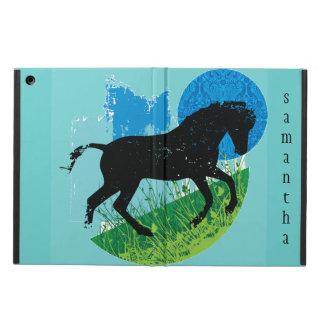 Caso del iPad del diseño del caballo que se divier