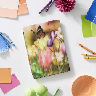 Caso del iPad del jardín de la mariposa de la Cubierta Para iPad Pro