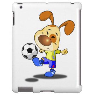 Caso del iPad del retroceso del fútbol del conejo Funda Para iPad