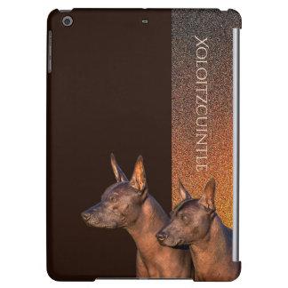 Caso del iPad duro de la cáscara de Xoloitzcuintle