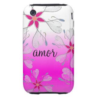 caso del iPhone 3 Amor iPhone 3 Tough Coberturas