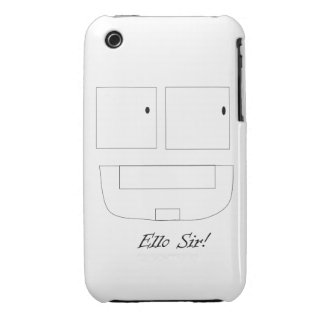 Caso del iPhone 3G/3GS del sir de Ello Case-Mate iPhone 3 Carcasa