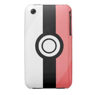caso del iPhone 3G/3GS - rojo y blanco Funda Para iPhone 3 De Case-Mate