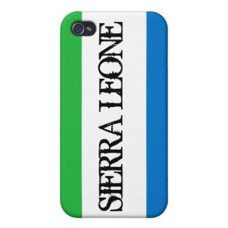 Caso del iPhone 4 de la bandera del Sierra Leone iPhone 4 Funda