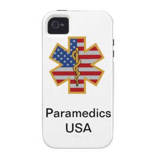 Caso del iPhone 4 de los E E U U de los paramédic iPhone 4/4S Carcasas
