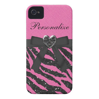 Caso del iPhone 4 del estampado de zebra del Carcasa Para iPhone 4 De Case-Mate
