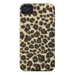 Caso del iPhone 4 del estampado leopardo Case-Mate iPhone 4 Funda