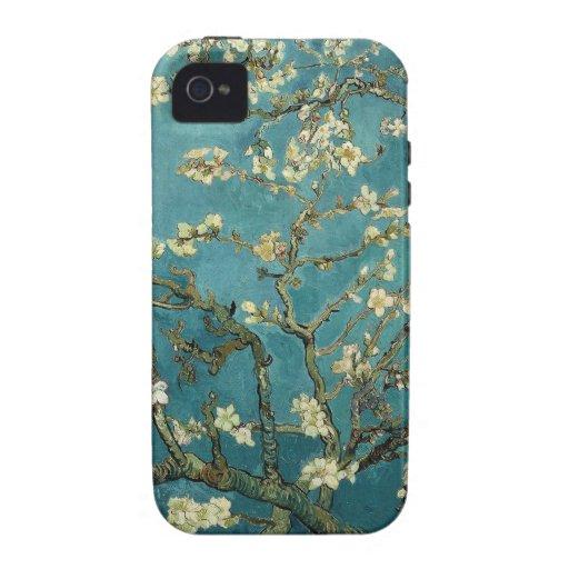 Caso del iPhone 4 del flor de la almendra Case-Mate iPhone 4 Carcasa
