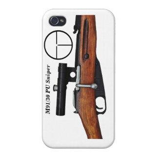 Caso del iphone 4 del francotirador de Mosin iPhone 4 Protectores